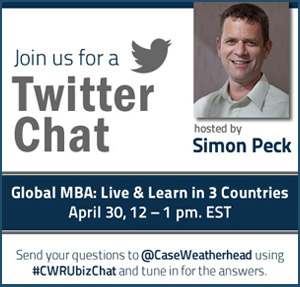 Twitter Chat with Simon Peck and learn about the Weatherhead Global MBA