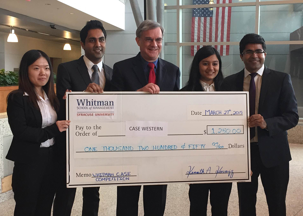 Weatherhead School of Management team at Whitman School of Management Case Competition at Syracuse University
