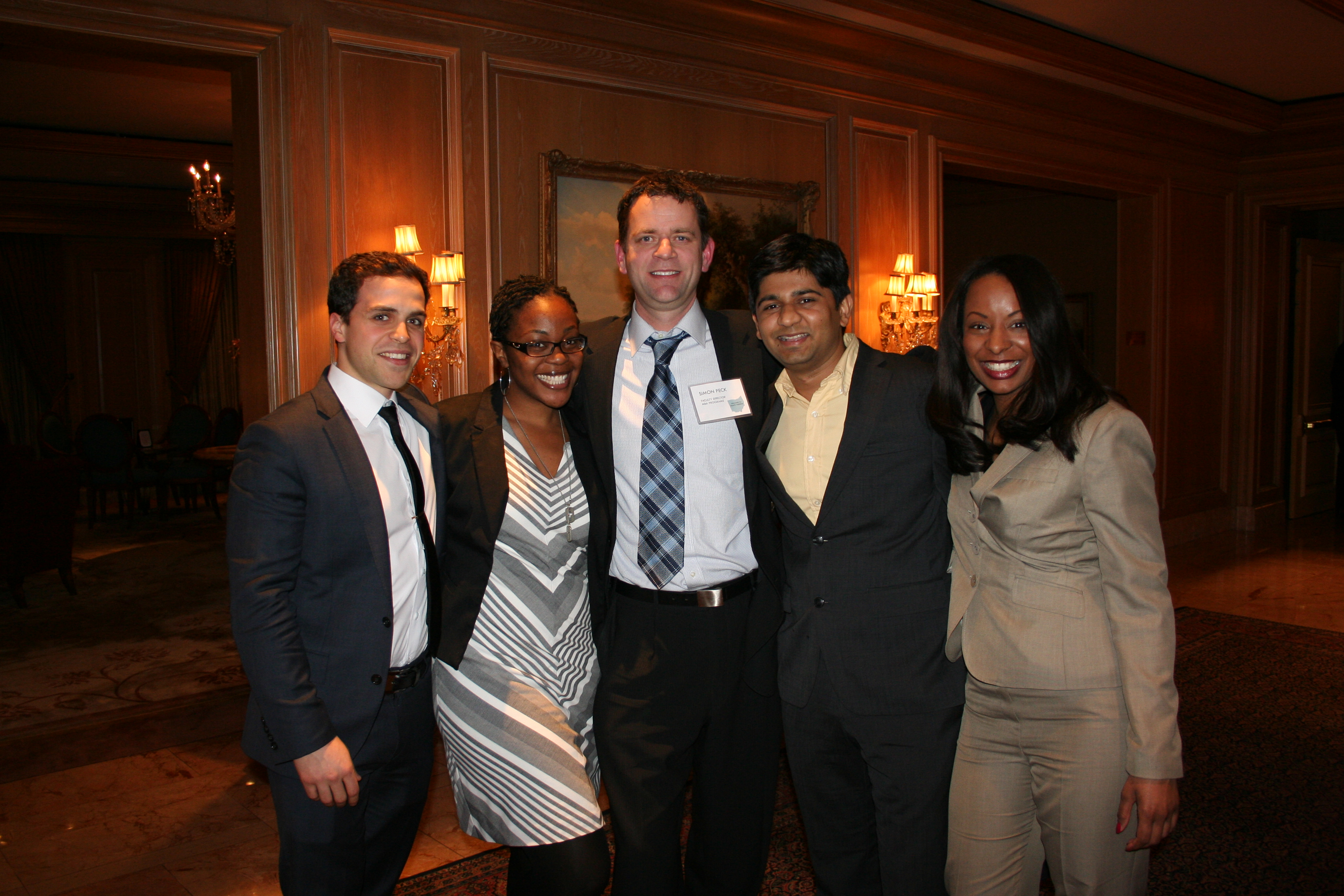 Simon Peck (center) with MBA students