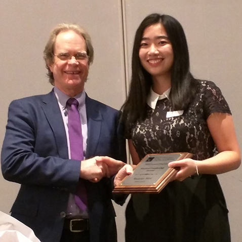 Ruiyao Wei, recipient of the Student Leadership Award