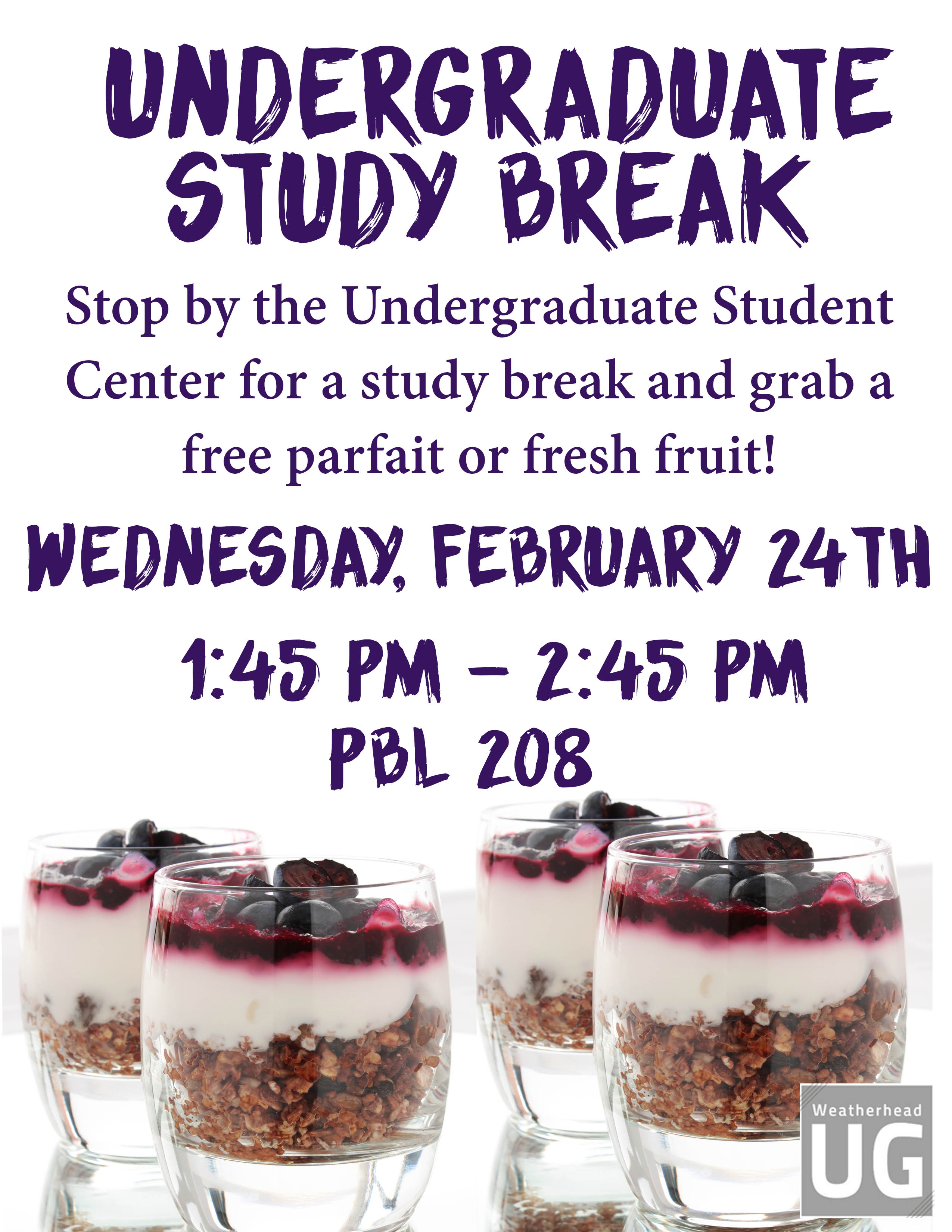 UG Study Break Flyer
