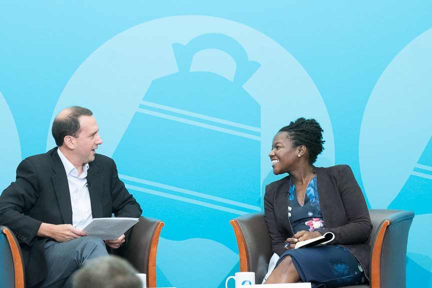 Michael Goldberg Talks with LinkedIn's Nicole Isaac at the City Club