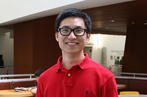 Picture of Hao Zheng, Weatherhead ORSC student in Weatherhead's Peter B. Lewis buidling